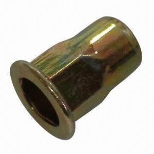 Quality Threaded Inserts Semi-Hexagonal Flat Head Open Type Rivet Nut for sale