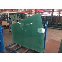 Quality Flat / Curved Decorative Toughened Tempered Glass for Building , Furniture , Shower Door for sale