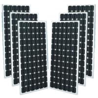 Black Mono Crystal Solar Panel For Home , Monocrystalline Solar Panels 250w