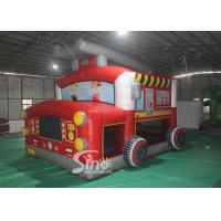 Quality The Blow Up Fire Truck Inflatable Bouncy Castle For Kids And Adults Party Time for sale