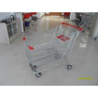 Quality Zinc Plated  Chromed Grocery Shopping Cart 240L Hand  With Metal Tube Base for sale