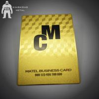Quality Gold Membership VIP Metal Business Card VIP Card Made By Stainless Steel CR80 for sale