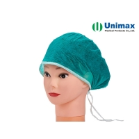 Quality Spunbond Disposable Non Woven Cap With Ties for sale