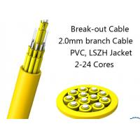 Quality 24 Fiber Multimode Fan-Out Indoor Breakout Fiber Optic Cable With High Strength for sale