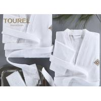 Buy cheap Basic Hooded Hotel Quality Bathrobes Luxury Hooded White Terry Velour Shawl Robe from wholesalers