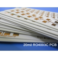 China Rogers 20mil 0.508mm RO4003C High Frequency PCB Double Sided RF PCB Repeater PA, Double sided PCB, 4300 Rogers PCB on sale