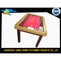 China Texas Holdem Luxury Casino Poker Table With Four Wooden Legs wholesale