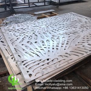 China Powder coated Metal aluminum laser cut panel cladding for facade exterior cladding