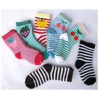 Quality Sweat-absorbent Cute Colorful 12 - 15 cm Pure Cotton Ankle Terry Loop Socks For Children 1- 4 Years for sale
