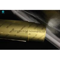Quality Sheet Cigarette Aluminum Foil Paper In Bright And Matt Gold 83mm For King Size Cigarette Box for sale