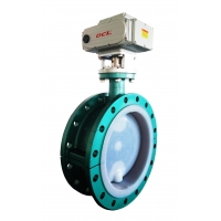 Quality 1/4 Turn DN500 WCB Wafer Electric Actuated Butterfly Valve for sale