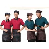 Quality Cool Restaurant Staff Clothing Ribbed Cuff Splicing With Nice Shirt And Pants for sale