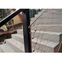 Buy cheap Decorative Ferrule Flexible Stainless Steel Wire Rope Mesh Fence For Stair from wholesalers