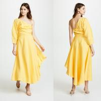 Buy cheap Fashion Asymmetrical Clothing One Shoulder With Long Sleeve Woman Maxi Dress from wholesalers