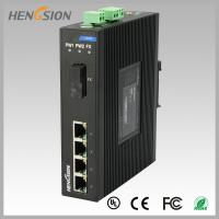 Quality 1.2Mpps Fiber Optical Network Switch , Din Rail Installed Outdoor Ethernet Switch for sale