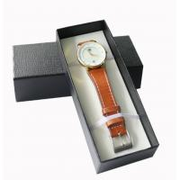 China Rigid Paper Packing Box Leatherette Personalized Gift Boxes For Base Watch on sale