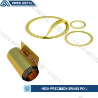 Quality Customized Bright Golden Yellow Precision Brass Foil Roll For Laminated Shims for sale