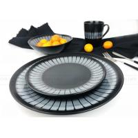 Quality Home Use Ceramic Dinnerware Sets Fashionable Hand Painted Black Color for sale