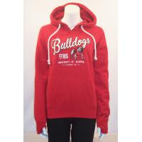 Quality Custom Red organic Cotton Hooded Sweatshirt Long Sleeve for Sports , Running for sale