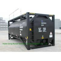 Quality UN T3 Heating 20 Foot ISO Tank Container For Bitumen / Crude Oil / Low Hazardous Liquids for sale