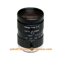 """Quality 2/3"""" 12mm F1.6 Megapixel Manual IRIS C Mount Industrial FA Lens, 12mm 5MP machine vision industrial Lens for sale"""
