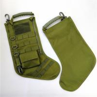 Quality New Green Christmas Decoration Gifts Tactical Christmas Stocking with molle gear for sale
