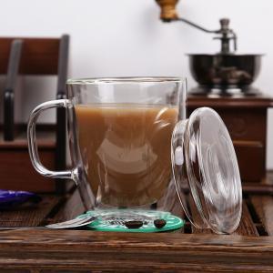 Quality High quality crystal double wall glass cup/coffee glass mug,Borosolicate 330ml handblown tea and coffee glass for sale