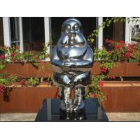 China Mirror Polished Metal Garden Statues Cartoon Style In Welding Technique on sale