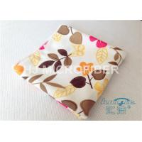 Quality High Absorbent Flower Printed Streak Free Microfiber Cloth 80% Polyester for sale