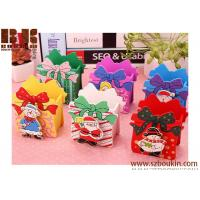 China Wooden Christmas Bowknot Pencil Vase wood Square wood pen holder/stand/pencil case on sale