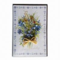 Quality Greeting Card with Flowers and Green Leaves and Beautiful Colors for sale