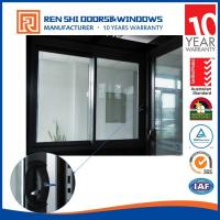 Quality AS2047 Double Glazing Aluminum Sliding Window With INTERPON Black Color for sale