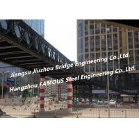 Quality Long Span Metal Structure For Pedestrian Overcrossing Steel Bailey  Pedestrian Bridge Solutions for sale