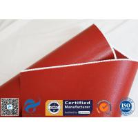 Buy cheap Heat Insulation 18oz 510g Red Silicone Coated Fiberglass Fabric Anti-corrosion from wholesalers
