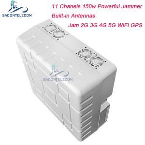 Quality 11 Channels Built-in Antenna 2G 3G 4G 5G Signal Jammer Blocker WiFi GPS 50m Range for sale