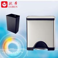 Quality factory directly sale stainless steel square trash bin/JC25-A for sale