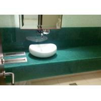 Quality Single Sink Jade Polishing Stone Countertops For Restroom Eased Edge for sale