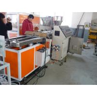 Quality pe pp pvc pa single wall corrugated pipe tube extrusion line for sale