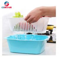 Quality Household water-draining plastic utensils basket vegetable and fruit drainer basket whole foods fruit baskets for sale