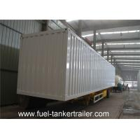 China Strong Box Utility Trailer with corrugated steel plate or flat type steel plate box shell on sale