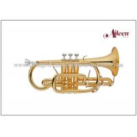 China Brass lacquered 2pcs reinforced trigger China Cornet with Premium case (CN8712G) wholesale