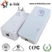 Quality 1200Mbps Passthrough Powerline Adapter with Power Socket Powerline Line Communication for sale