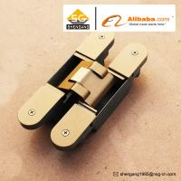 Quality Zinc Alloy 3D Adjustable Concealed Hinge / Invisible hinge For Wooden Doors for sale