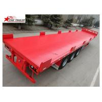 Quality Heavy Duty Long Flatbed Semi Trailer 12R22.5 Radial Tyres For Cargo for sale