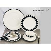 Quality 20-Piece Kitchen Dinnerware Set, Plates, Dishes, Bowls, Service for 4, Modern Elegance for sale