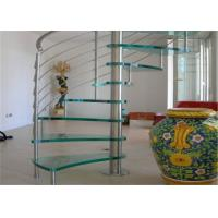 Buy cheap Australian style high quality solid glass stainless steel spiral staircase from wholesalers