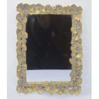 Quality Handcrafted Vintage Style Large Gold Framed Wall Mirrors With Ginkgo Leaf Border for sale
