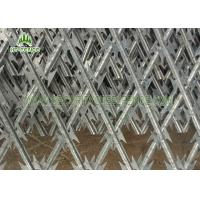Security Concertina Razor Wire Mesh Fence For Highway / Railway Protection