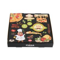 China Printed Strong Corrugated Paper Cardboard Pizza Box Food Packaging Manufacturer on sale