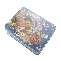 Quality Hot Sale Candy Packing Tin Box Food Safe Clear Tin Can Jar for sale